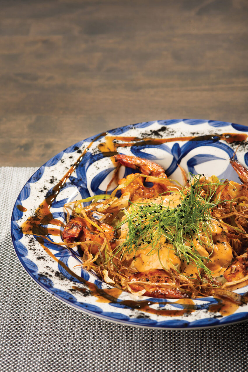 Dish at Los Azulejos restaurant