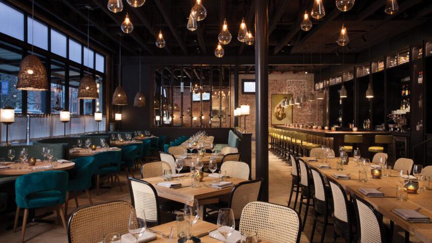 Interior of Maverick restaurant